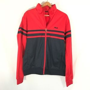 Fila brand jacket NWOT mens size large red & blue